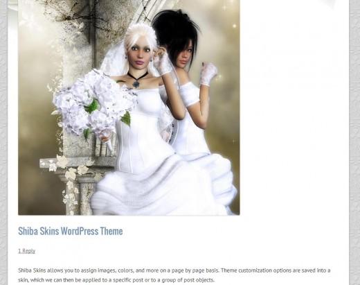 Wedding Blog page screenshot.