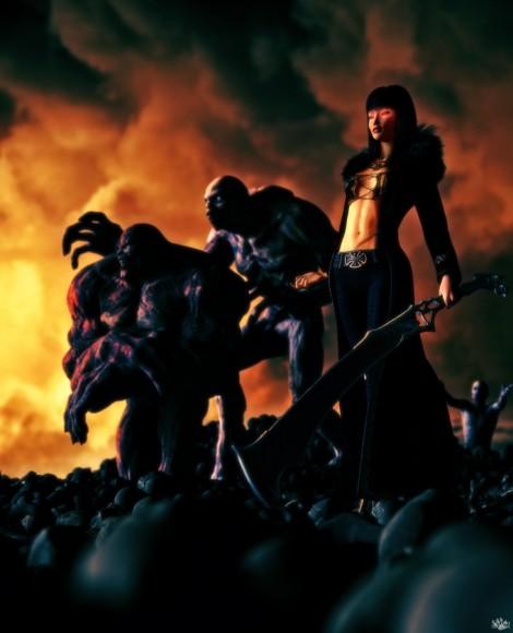 Porsha, Undead Fiend, Werewolf Hunter, Flink Skull and Bones, CeceHair, Infernal Behemoth, Body Scar