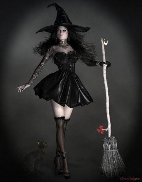 Qualifying items used: V4.2, V4,2 Morphs++, Pumpkin Witch, Millennium Cat by Daz Originals.