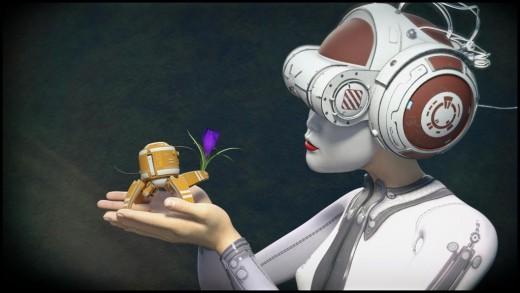 Qualifying Items by The AntFarm: VR Helmet and Mini Bots.