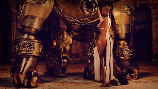 Qualifying items used:  - Priya for Genesis 3 Female(s) by Saiyaness - Metal Golem by Valandar