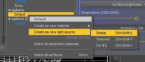 Screenshot of how we start to make our flattened sphere emissive.