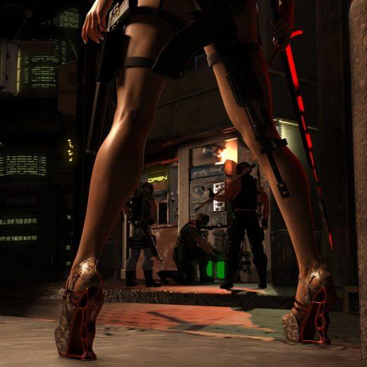 Qualifying item used – VXZ3 Heels for Genesis 8 Female(s) by HM.